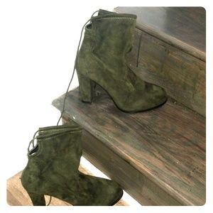 Olive Green Ankle Boots